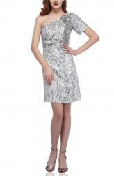 Indian Fashion Designers - Attic Salt - Contemporary Indian Designer - Silver Skew Dress - AS-AW18-00383