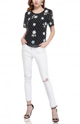 Indian Fashion Designers - Attic Salt - Contemporary Indian Designer - Multi Beads Top - AS-AW18-00397