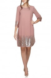 Indian Fashion Designers - Attic Salt - Contemporary Indian Designer - Beautifully Embellished Dusty Pink Dress - AS-SS20-OO125DP
