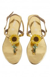 Indian Fashion Designers - CHINI C DESIGNS - Contemporary Indian Designer - Sunflower Flats - CCD-AW19-Sunflower