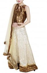 Indian Fashion Designers - GirlsAndBelles - Contemporary Indian Designer - Gota Work Lehenga - GAB-AW18-LH001
