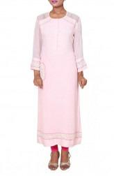Indian Fashion Designers - Anju Agarwal - Contemporary Indian Designer - Dori Moti Pink Tunic - ANJA-AW16-LKA2722