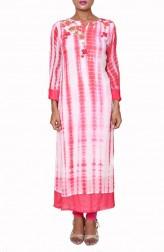 Indian Fashion Designers - Anju Agarwal - Contemporary Indian Designer - Tie and Dye Cherry Tunic - ANJA-AW16-LKA2729