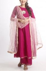 c5f0940db8 Indian Fashion Designers - Anokherang - Contemporary Indian Designer -  Purple Flower Salwar Suit - ANO
