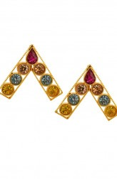 Indian Fashion Designers - Artsie Ville - Contemporary Indian Designer - Caitlynn Earrings - ARV-AW16-AVE013