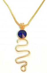 Indian Fashion Designers - Artsie Ville - Contemporary Indian Designer - Dark Blue Adena Necklace - ARV-AW16-AVE022