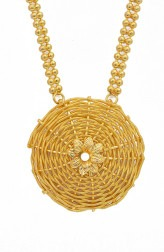 Indian Fashion Designers - Artsie Ville - Contemporary Indian Designer - Aileen Gold Necklace - ARV-AW16-AVN028