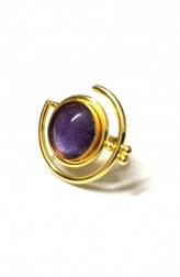 Indian Fashion Designers - Artsie Ville - Contemporary Indian Designer - Purple Alena II Ring - ARV-SS17-AVR042