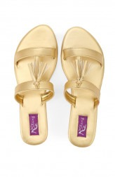 c5e731b187c2 Indian Fashion Designers - Bling Footwear - Contemporary Indian Designer -  Light Gold Tassel - BLF
