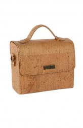 Indian Fashion Designers - Corkiza - Contemporary Indian Designer - Sling Oak Bag in Cork - CKZ-AW16-CKZ02A