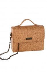 Indian Fashion Designers - Corkiza - Contemporary Indian Designer - Sling Natural Oak Bag in Cork - CKZ-AW16-CKZ02B