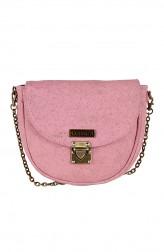 Indian Fashion Designers - Corkiza - Contemporary Indian Designer - Pink Messenger Bag in Cork - CKZ-AW16-CKZ03A