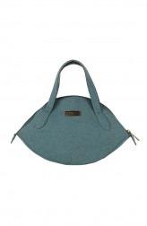 Indian Fashion Designers - Corkiza - Contemporary Indian Designer - Teal Cork Micro bag - CKZ-AW16-CKZ06A