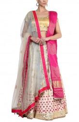 Indian Fashion Designers - Devnaagri - Contemporary Indian Designer - Pretty Gota Patti Lehenga - DEV-AW16-LN-26