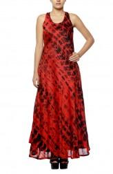 Indian Fashion Designers - Diya Mehta - Contemporary Indian Designer - Red Bias Dress - DM-SS17-DIMA62-02