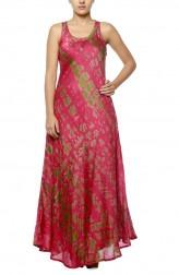 Indian Fashion Designers - Diya Mehta - Contemporary Indian Designer - Pink Bias Dress - DM-SS17-DIMA62-04