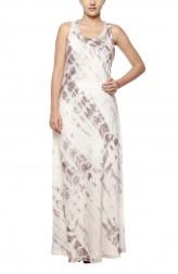 Indian Fashion Designers - Diya Mehta - Contemporary Indian Designer - White Bias Dress - DM-SS17-DIMA62-05
