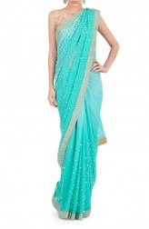 Indian Fashion Designers - Kyra - Contemporary Indian Designer - Pearly Beauty Saree - KYA-AW16-KA024
