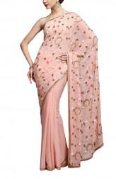 Indian Fashion Designers - Kyra - Contemporary Indian Designer - Jewel Piece Saree - KYA-AW16-KP009