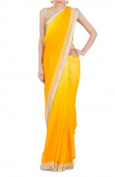 Indian Fashion Designers - Kyra - Contemporary Indian Designer - Sunny Side-up Saree - KYA-AW16-KY025