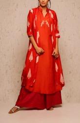 Indian Fashion Designers - Myoho - Contemporary Indian Designer - Indra Jacket Set - MYO-SS17-1126-1128A