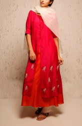 Indian Fashion Designers - Myoho - Contemporary Indian Designer - Genny Dress Set - MYO-SS17-1175