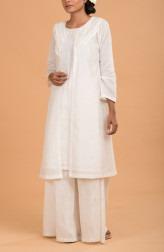 Indian Fashion Designers - Nausheen Osmany - Contemporary Indian Designer - Pearl Kurta with Jacket - MAU-SS17-M009