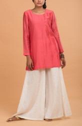 Indian Fashion Designers - Nausheen Osmany - Contemporary Indian Designer - Strawberry Straight Fit Kurta Set - MAU-SS17-M010-M018