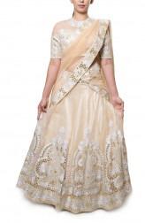 Indian Fashion Designers - Neha Gursahani - Contemporary Indian Designer - Nude and Off White Lehenga - NG-AW16-MA-03