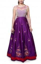 Indian Fashion Designers - Neha Gursahani - Contemporary Indian Designer - Voilet Anarkali Gown - NG-AW16-MA-10