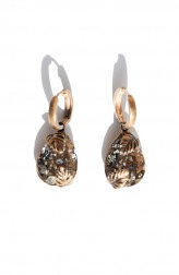 Indian Fashion Designers - Nine Vice - Contemporary Indian Designer - Swarovski Torn Leaf Earrings - NIV-AW17-A-E-1