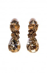Indian Fashion Designers - Nine Vice - Contemporary Indian Designer - Elegent Hand Carved Earrings - NIV-AW17-A-E-6