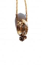 Indian Fashion Designers - Nine Vice - Contemporary Indian Designer - Light Gold Swarovski Pendant - NIV-AW17-A-P-4