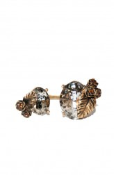 Indian Fashion Designers - Nine Vice - Contemporary Indian Designer - Gold and Pink Gold Swarovski Ring - NIV-AW17-A-R-13