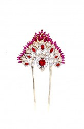 Indian Fashion Designers - Nine Vice  - Contemporary Indian Designer - Lady Rouge Tiara Hairpin - NIV-AW16-MR-H-4