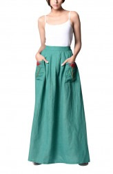 Indian Fashion Designers - Paar - Contemporary Indian Designer - Lovely Teal Skirt - PAR-AW16-LL022