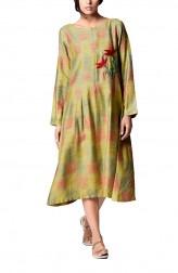 Indian Fashion Designers - Paar - Contemporary Indian Designer - Green Anarkali Dress - PAR-AW16-TGFA014