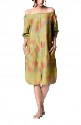 Indian Fashion Designers - Paar - Contemporary Indian Designer - Off-shoulder Shirt Dress - PAR-AW16-TOSG025