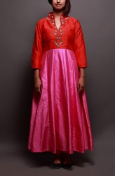 Indian Fashion Designers - Prisha by Shivesh - Contemporary Indian Designer - Lovely Toned Anarkali - PRSH-AW16-Swasti-11