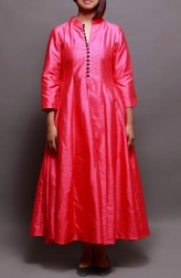 Indian Fashion Designers - Prisha by Shivesh - Contemporary Indian Designer - Cherry Red Flared Gown - PRSH-AW16-Swasti-12