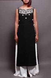 Indian Fashion Designers - Prisha by Shivesh - Contemporary Indian Designer - Black Long Tunic Set - PRSH-AW16-Swasti-15