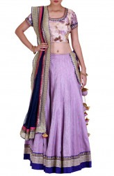 Indian Fashion Designers - Rang - Contemporary Indian Designer - Pretty Lavender Lehenga - RNG-AW16-2-047