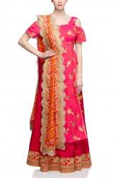 Indian Fashion Designers - Rang - Contemporary Indian Designer - Magenta Pink Lehenga - RNG-AW16-2-056