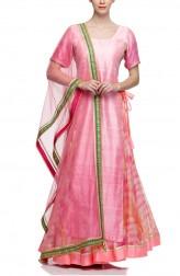 Indian Fashion Designers - Rang - Contemporary Indian Designer - Elegant Pink Lehenga - RNG-AW16-2-058