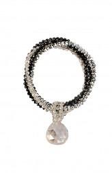 Indian Fashion Designers - Rhea - Contemporary Indian Designer - Onyx Drop Bracelet - RH-AW16-1020011