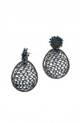 Indian Fashion Designers - Rhea - Contemporary Indian Designer - The Bee Hive Earrings - RH-AW16-1030007
