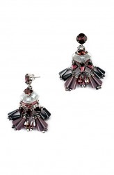 Indian Fashion Designers - Rhea - Contemporary Indian Designer - The Time Traveller Tassel Earrings - RH-AW16-1030034