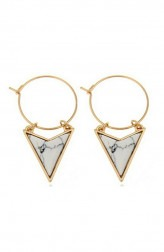 Indian Fashion Designers - Rhea - Contemporary Indian Designer - Mini Isosceles Triangle Earrings - RH-SS17-1130043