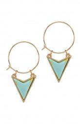 Indian Fashion Designers - Rhea - Contemporary Indian Designer - Skylight Triangle Earrings - RH-SS17-1130044