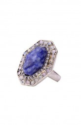 Indian Fashion Designers - Rhea - Contemporary Indian Designer - Neptune Pave Ring - RH-SS17-1140057